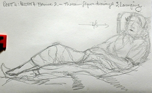 Part 4 Project 4 Exercise 2 - Three figure drawings - Lounging