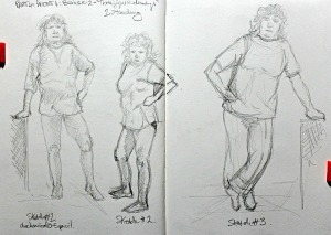 Part 4 Project 4 Exercise 2 - Three figure drawings - Standing