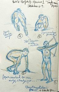 Part 4 Project 5 Exercise 1 - Single moving figure, sketches 6 & 9