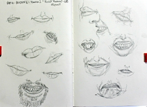 Part 4 Project 6 Exercise 1 - Facial features - lips